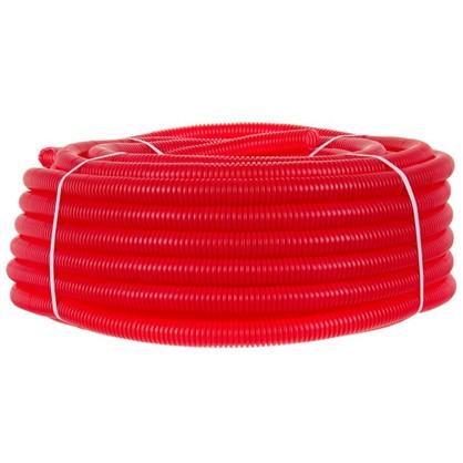Труба гофрированная d 25 мм 50 м цвет красный