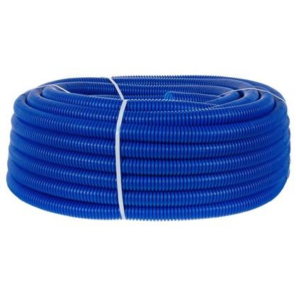 Купить Труба гофрированная d 25 мм 50 м цвет синий дешевле