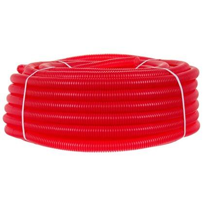 Купить Труба гофрированная d32 L50 м цвет красный дешевле