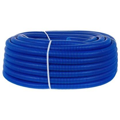 Труба гофрированная d32 L50 м цвет синий