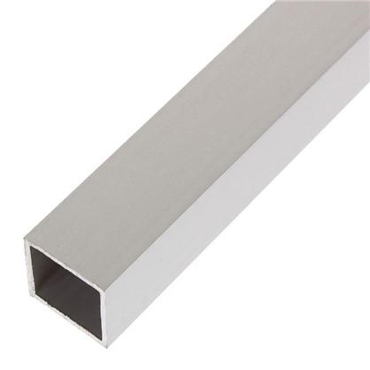 Труба квадратная 20х20х1000х20 мм алюминий цвет серебро