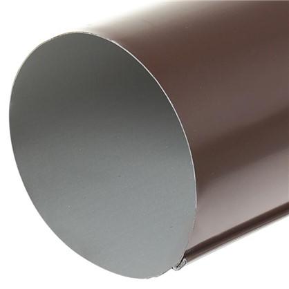 Труба водосточная 2000х90 мм цвет коричневый