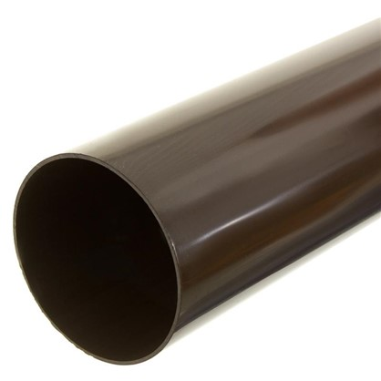 Купить Труба водосточная Dacha 80 мм 2 м цвет коричневый дешевле