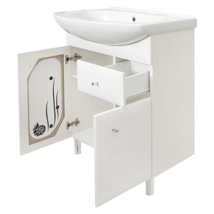 Тумба под раковину напольная АСБ-Мебель Астра Витраж 62 см цвет белый