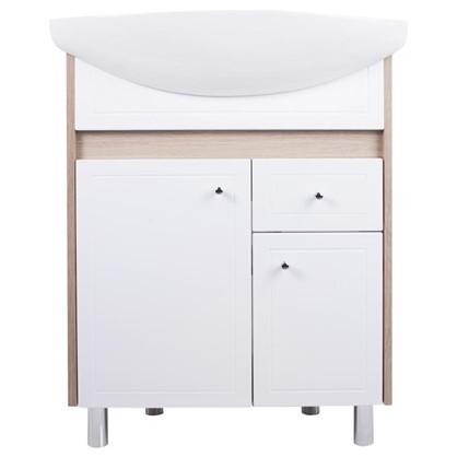 Купить Тумба под раковину напольная АСБ-Мебель Магнолия 65 см цвет белый дешевле