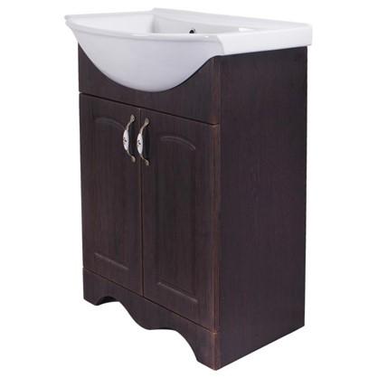 Купить Тумба под раковину напольная Мелони 56 см цвет коричневый дешевле