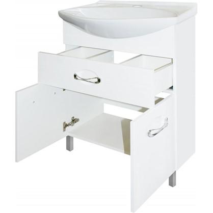 Купить Тумба под раковину напольная Sanflor Палермо 65 см цвет белый дешевле