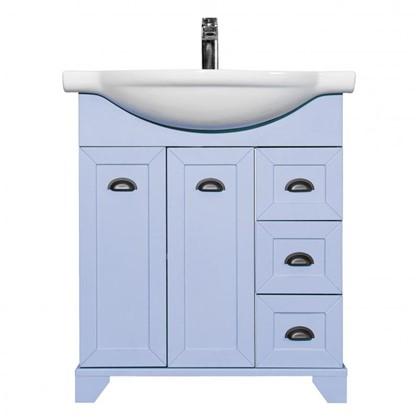 Купить Тумба под раковину подвесная Шарм 75 см цвет голубой дешевле