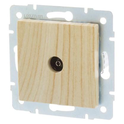 ТВ-розетка проходная цвет дуб беленый матовый