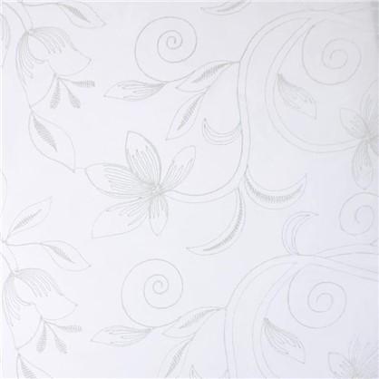 Купить Тюль 1 п/м Цветы вышивка 280 см цвет молочный дешевле