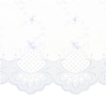 Тюль 1 п/м Цветы вышивка вуаль 280 см цвет белый