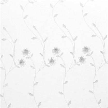 Тюль Цветы вышивка 285 см цвет белый