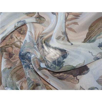 Тюль Цветы вуаль 280 см цвет синий