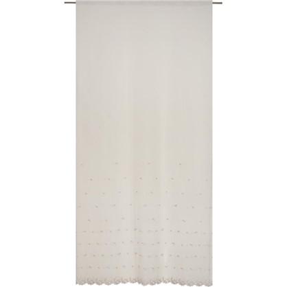 Тюль Kircicegi вуаль с вышивкой цвет пудровый