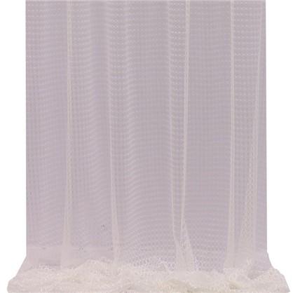 Тюль Круги 1 п/м 300 см сетка цвет экрю цена