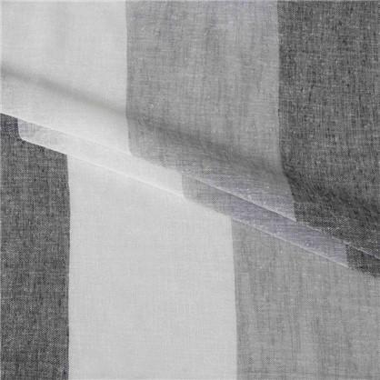 Тюль Крупные полосы 295 см цвет серый