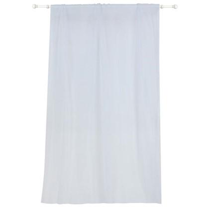 Тюль на ленте 140х280 см цвет белый