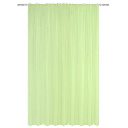 Тюль на ленте 300х280 см микровуаль цвет зеленый