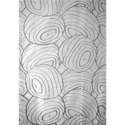 Тюль на ленте Абстракция 250х260 см органза цвет белый