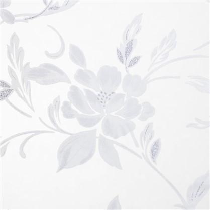 Тюль на ленте Цветы 250х260 см органза цвет экрю