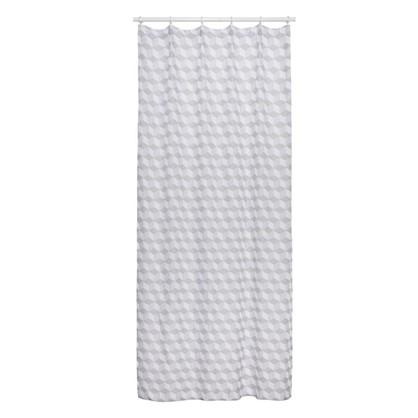 Тюль на ленте Гексагон 140х260 см цвет серый