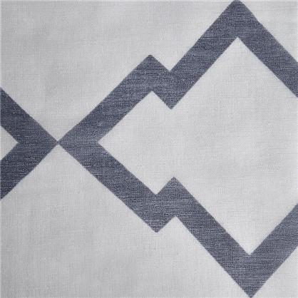 Тюль на ленте Геометрия 250х260 см цвет синий