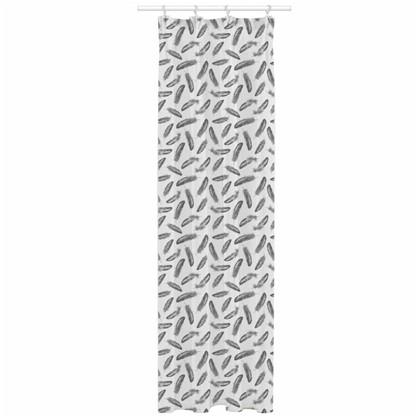 Тюль на ленте Gladston 140х260 см вуаль цвет белый темно-серый