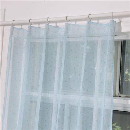 Тюль на ленте Игра 140х260 см цвет синий