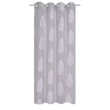 Тюль на ленте Krasnogorsk 160х260 см вуаль цвет серый