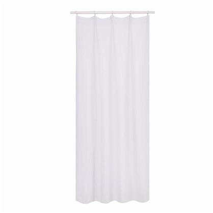 Тюль на ленте Леон 160х260 см вуаль цвет белый