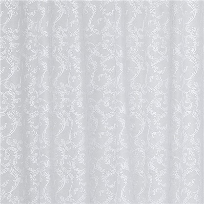 Тюль на ленте Осень 250х260 см жаккард цвет белый