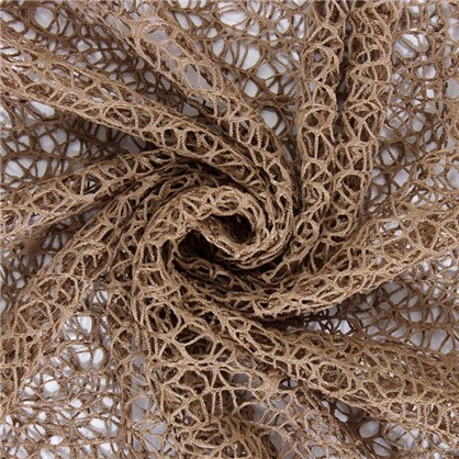 Тюль на ленте Паутина 140х260 см цвет шоколадный