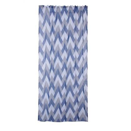 Тюль на ленте Port Lincoln 135х260 см вуаль цвет голубой