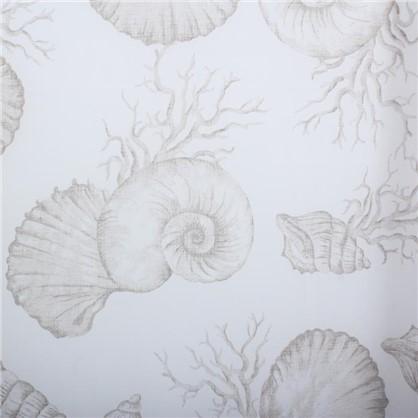 Тюль на ленте Ракушки 250х260 см батист цвет серый