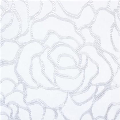 Тюль на ленте Роза 250х260 см органза цвет белый