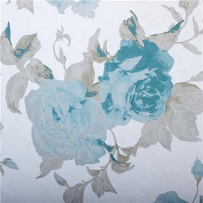Тюль на ленте Роза 250x260 см цвет бирюзовый