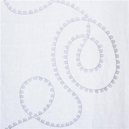 Купить Тюль на ленте Вербена 250х260 см лен цвет белый дешевле