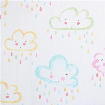 Купить Тюль Нубс облака 300 см абстракция дешевле