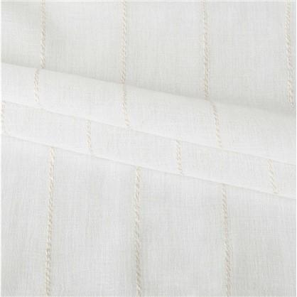Тюль Полосы 280 см цвет белый