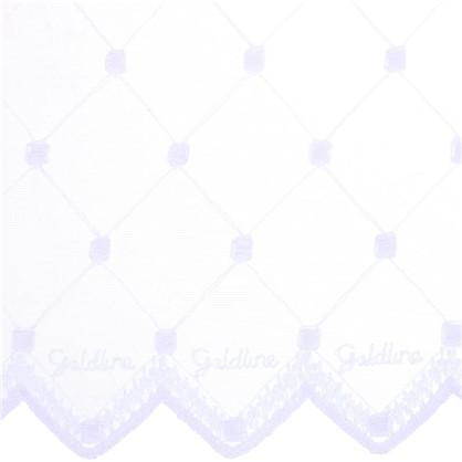 Купить Тюль Ромб вышивка 285 см цвет белый дешевле