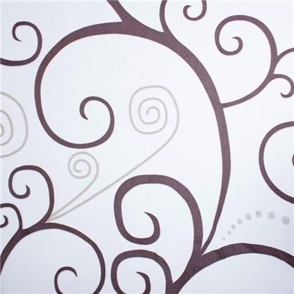Тюль с печатью Вензель 1 п/м 280 см органза цвет венге