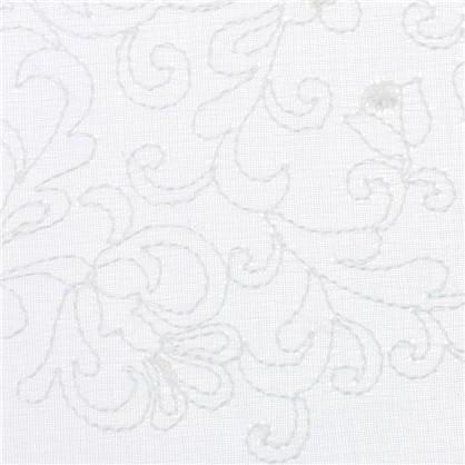 Тюль с вышивкой батист 290 см цвет кремовый