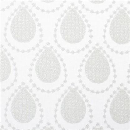 Тюль с вышивкой Капли батист 290 см цвет кремовый