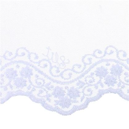 Тюль с вышивкой Лидия сетка 290 см цвет белый