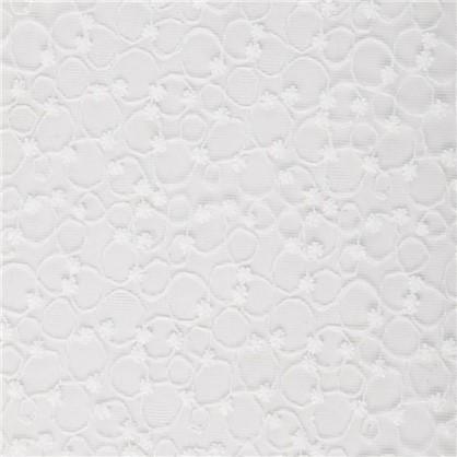 Тюль с вышивкой на сетке Круги 1 п/м 280 см цвет кремовый