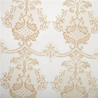 Тюль с вышивкой на сетке Лирика 1 п/м 280 см цвет золотой