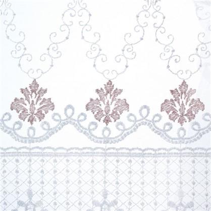 Купить Тюль с вышивкой на сетке Престиж 1 п/м 280 см цвет кремовый дешевле