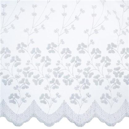 Купить Тюль с вышивкой на сетке Ветки 1 п/м 280 см цвет кремовый дешевле