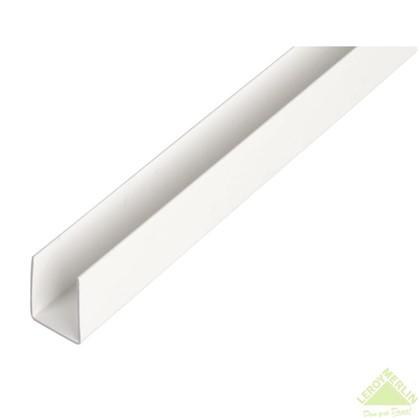 U-Профиль ПВХ 18x10x1x1000 мм цвет белый