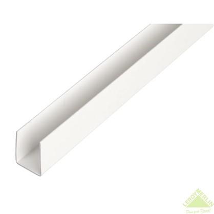 U-Профиль ПВХ 21x10x1x1000 мм цвет белый
